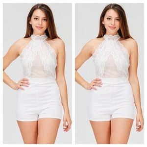 Coming Soon! White Lace Romper